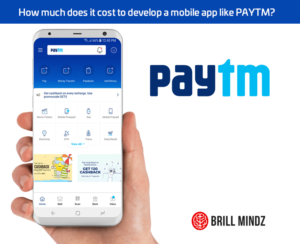 cost to develop an android iOS app like Paytm
