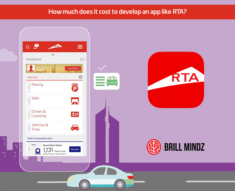 How much does it cost to develop an app like RTA