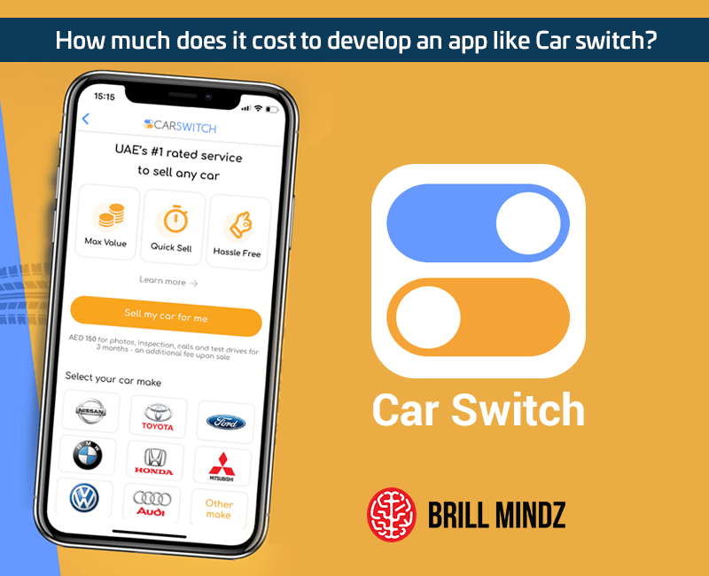How much does it cost to develop an app like Car switch