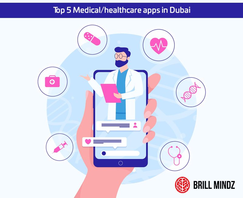`Top 5 Medical/healthcare apps in Dubai, Abu Dhabi, Sharjah, UAE