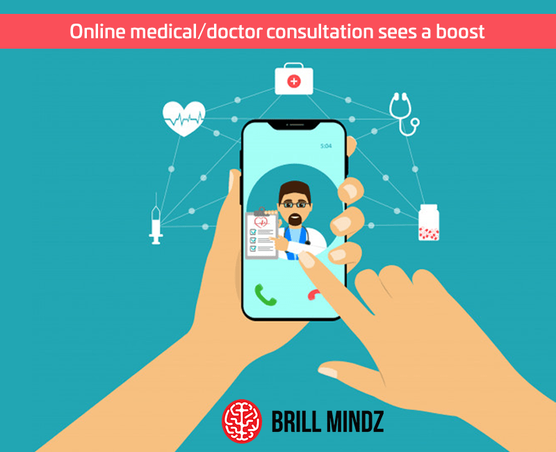 Online medical/doctor consultation sees a boost in a time of during lockdown