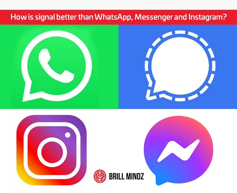 How is signal better than Whatsapp Messanger and Instagram